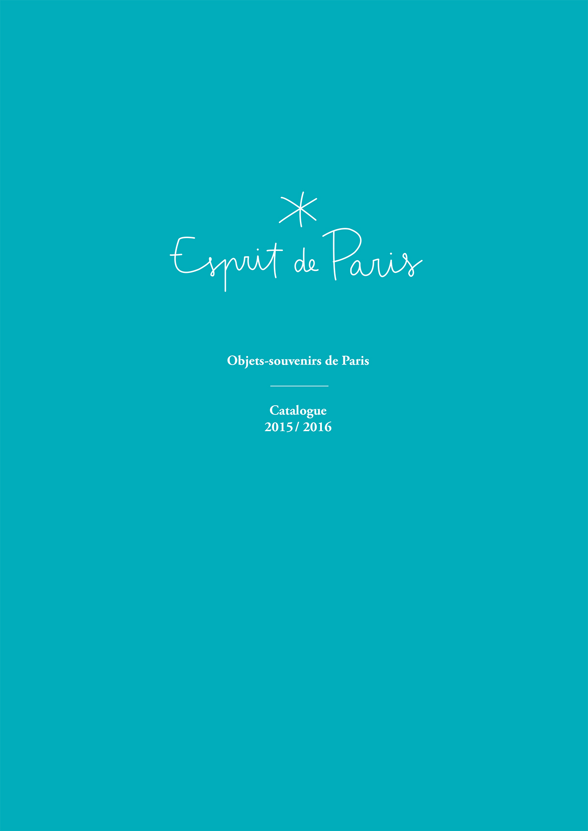 Couverture de Catalogue Esprit de Paris