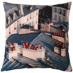 "Coussin imprimé photo ""Toits de Paris"""