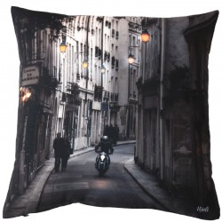 "Coussin imprimé photo originale ""5, rue Paris"""